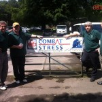 Graham H Mark W Mike and Graham W by the Combat Stress banner
